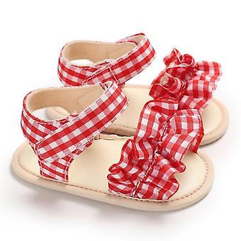 Vastasyntynyt vauva sandaalit, prewalker liukumaton ontto prinsessa kesä tupsu