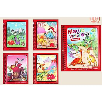 Pig Toy Magic Water Drawing Book Painting Board Learning Educational Color Book