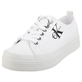 Calvin Klein Zolah Low Top Womens Platform Trainers in White