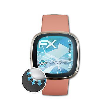 atFoliX 3x Écran protecteur compatible avec Fitbit Versa 3 Protecteur d'écran clair&flexible
