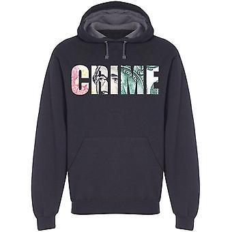 Crime, Money Design In Letters Hoodie Men's -Image by Shutterstock Men's Hoodie