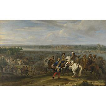 Louis Xiv Crossing Into The Netherlands At Lobith Poster Print