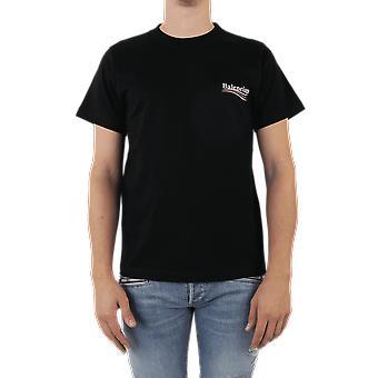 Balenciaga الصغيرة تناسب تي شيرت الأسود 620967TIV521070 الأعلى