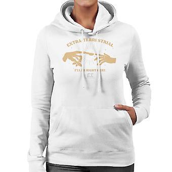 E.t. El extraterrestre Terrestre Ill Be Right Here Women's Hooded Sweatshirt