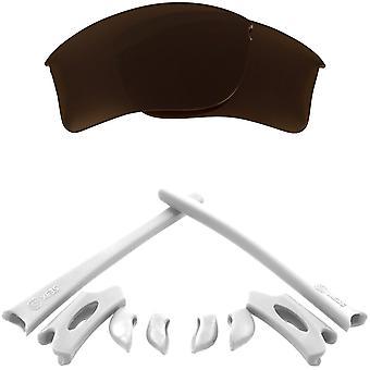 استبدال العدسات & كيت ل Oakley Flak سترة XLJ براون & الأبيض المضادة للخدش المضادة للوهج UV400 من قبل SeekOptics
