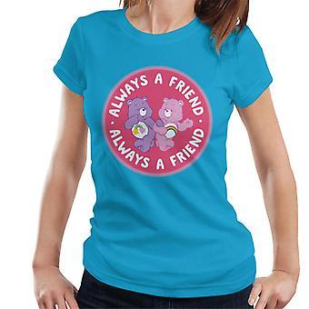 Care Bears Cheer Bear en Beste Vriend Bear Always A Friend Women's T-Shirt
