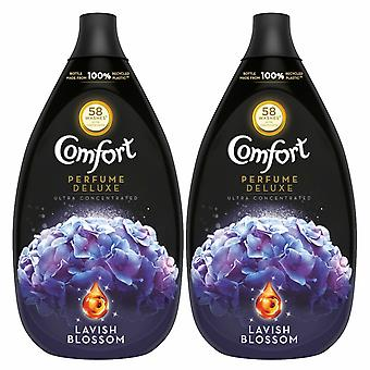 2 Pack Comfort Perfume Deluxe Lavish Blossom Fabric Conditioner, 58 Lavados