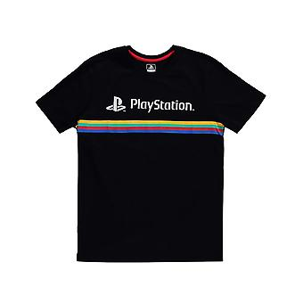 Sony Playstation T-Shirt Color Stripe Logo