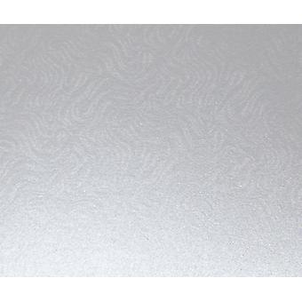 10 A4-kort Real Silver präglad Brokad Design 290gsm