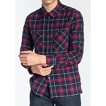 Edwards Red & Navy Check Flannel Shirt