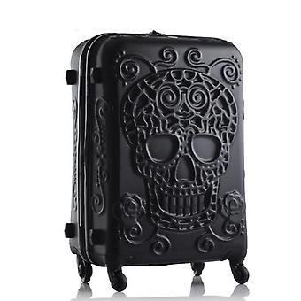Skull Travel Gepäcktasche, Carry-on Kinder Trolley Koffer auf Rädern