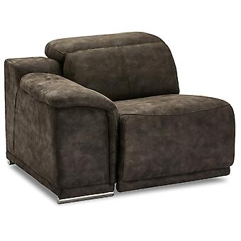 Ibbe Design Alexa 1 Seater Arm Left Brown Fabric No Function, 105x102x73 cm