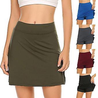 أزياء Women's الألوان الصلبة النشطة الأداء التنانير خفيفة الوزن