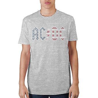 Ac/dc americana logo grey t-shirt