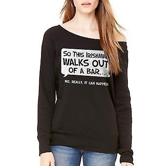 Humor So An Irishman Women's Black Sweatshirt