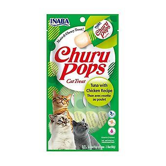 Churu Pops Cat Treat Tuna-Chicken None
