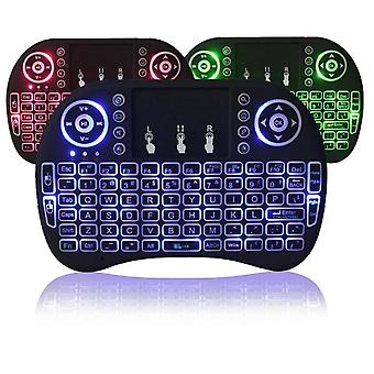 3 Colors Backlit I8 Mini Wireless Keyboard 2.4ghz/ English Russian Mouse