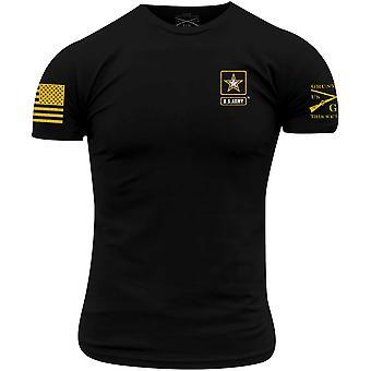 الجيش نمط نخر - الأساسية شعار كامل تي شيرت - أسود