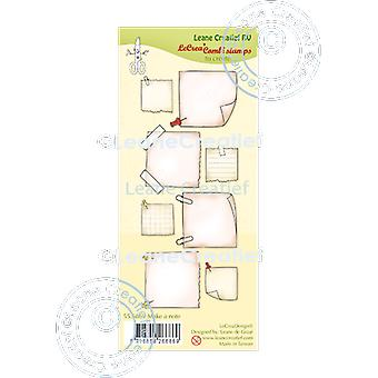 Leane Creatief Make a Note Clear Stamps