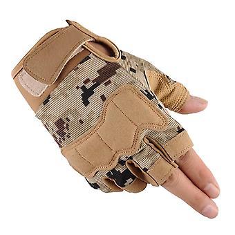 Lov Půl-prst armáda, armáda, taktické rukavice, pro fitness, hmotnost