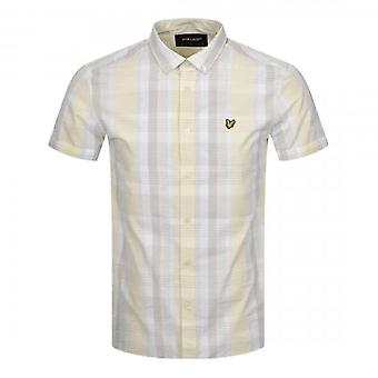 Lyle & Scott Lemon Check Shirt Short Sleeve SW1402V