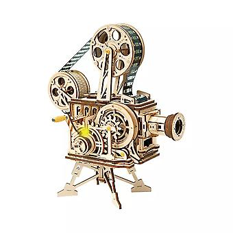 Xiaomi Youpin LK601 DIY Classic Wooden Vintage Movie Projector DIY 3D Vitascope Kit Wooden Puzzle Re