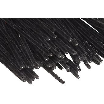 Rapid Black Pipe cleaners 15cm - Pack of 100
