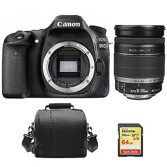 CANON EOS 80D KIT EF-S 18-200mm F3.5-5.6 IS + 64GB SD-Karte + Kameratasche