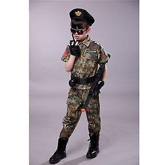 barn militære kamp taktiske kostymer acu kamuflasje kort lang hær dress