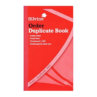 Silvine Duplicate 400 page Feint Order Book (6 Pack)