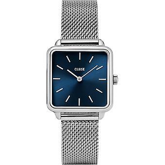 Cluse CW0101207012 Women's La Tétragone Silver Tone Mesh Wristwatch