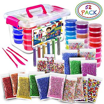 Kit de baba de 52pack Fluffy de 24 colores