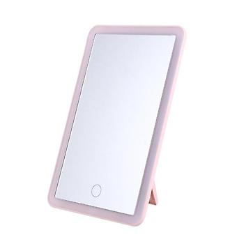 1Pc led make-up mirror desktop foldable back hook stand cosmetic mirror for bedroom cloakroom )