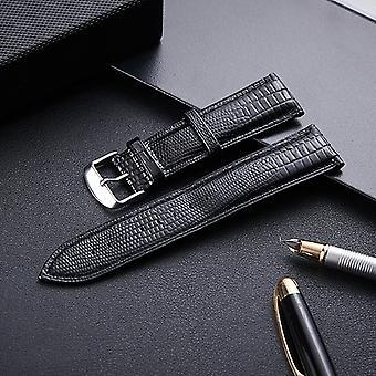 Lisko rakenne nahkahihna Vaihto watchband, Koko: 16mm (musta)