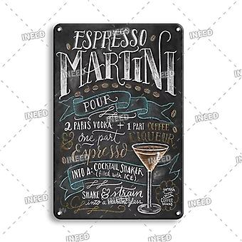 Vintage Gin & Tonic Tin Poster Wall Stickers, Decoration Metal Plaque Sign,