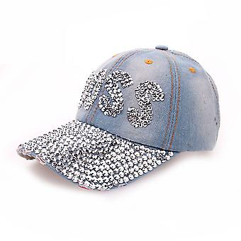 Boss Denim Baseball Cap Diamond Women Snapback Hats Adjustable