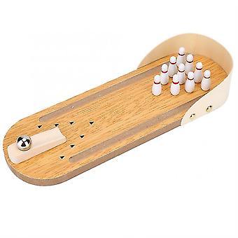 Mini työpöytä puinen keilapallo lauta peli lelu