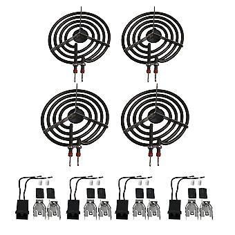 4 x Electric Stove Burner Socket Set 330031 Surface Burner Element Kits