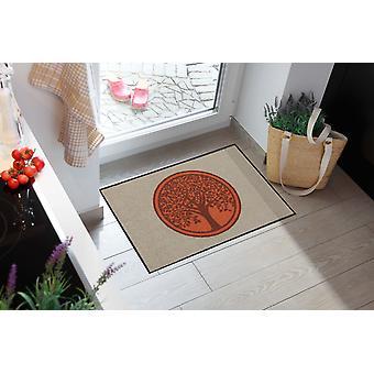 Salonloewe Doormat Tree of Life Pure 50 x 75 cm tvättbar