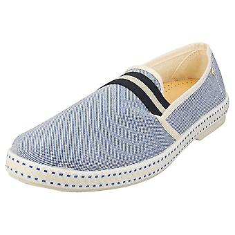 Rivieras College Oxford Mens Espadrille Shoes in Blue