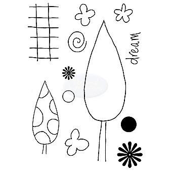 Polkadoodles klar stempel - Drømmende trær A7
