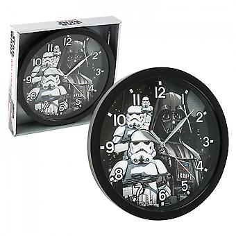 "Star Wars Darth Vader and Stormtroopers 9 3/4"" Wall Clock"