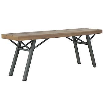 vidaXL garden bench 120 cm solid wood acacia