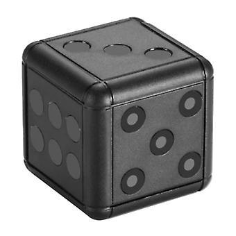 MiTwoo SQ16 Mini Security Camera Dice - 1080p HD Camcorder Motion Detector Alarm Black