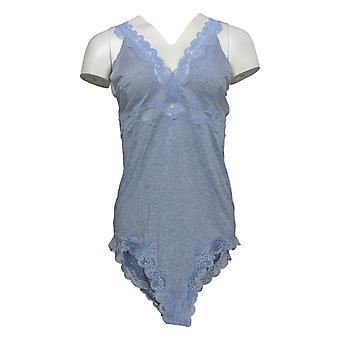 Rhonda Shear Bodysuit Plus T-Shirt V Neck Sholder Strap Purple 685284