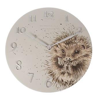 Wrendale Designs Wall Clock Hedgehog Design