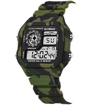 Kids Digital Watches, Sports Camouflage Military Multi Function, Luminous