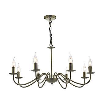 DAR IRWIN Hanglamp Dual Mount Antiek Messing, 8x E14