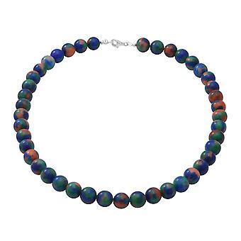 TJC Jasper Perle String halskæde i Sølv Gave til kone / mor 18 '' 250ct
