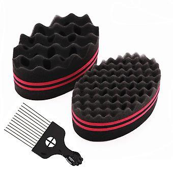 FengChun Magic Curl Sponge twist sponge Doppelseitiges Haarbrste Schwamm Haarschwamm Twist Curl